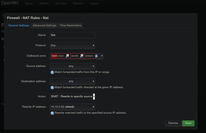 Firewall - NAT Rules - Nat ist