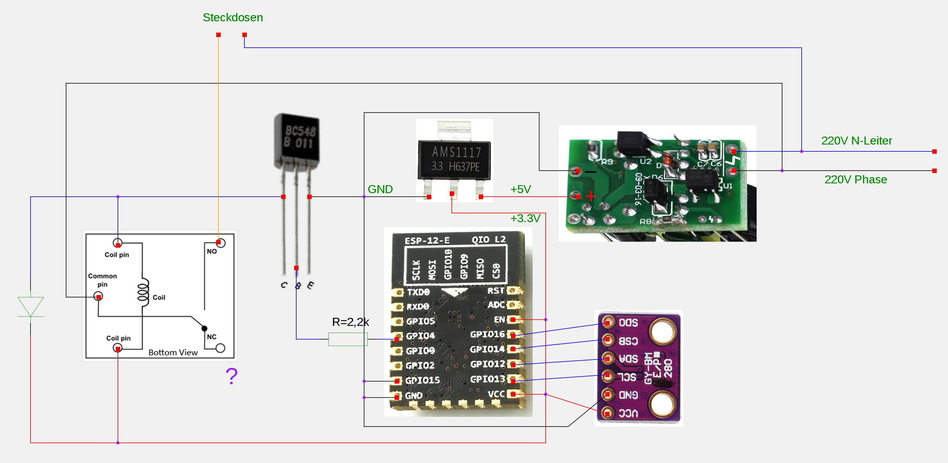 Kann ein ESP8266 einen Thermostat ersetzen? - Allgemeine (An-)Fragen ...